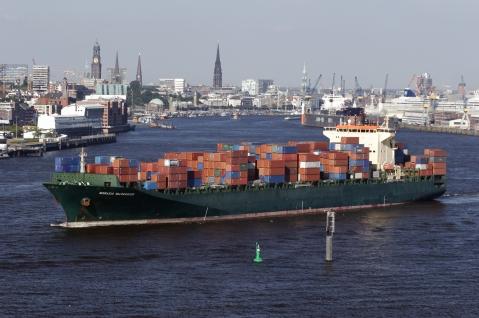 """N/M """"Cathrine Rickmers"""" em Hamburgo"""